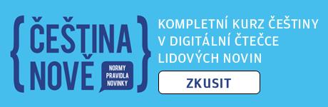Kurz češtiny v digitálních LN